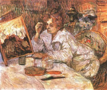 oil Works - woman at her toilette 1889 Toulouse Lautrec Henri de
